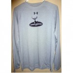 Wilderness Whitetails Long Sleeve Shirt (Gray)